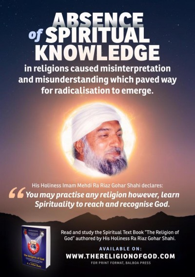 absence of spiritual knowledge