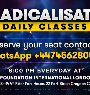 Join Our Deradicalisation Classes in London!