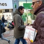 The Messiah Herald and The True Mehdi Distribution in Croydon Town Centre!